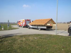 FFW Pastetten übenahm den Begleitschutz des Transports